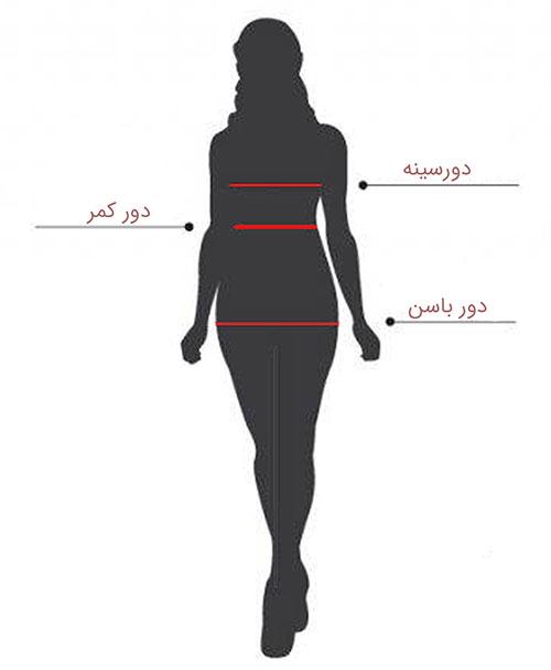 راهنمای انتخاب سایز لباس زنانه