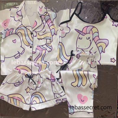 ست لباس خواب بچه گانه 4تیکه یونیکورن