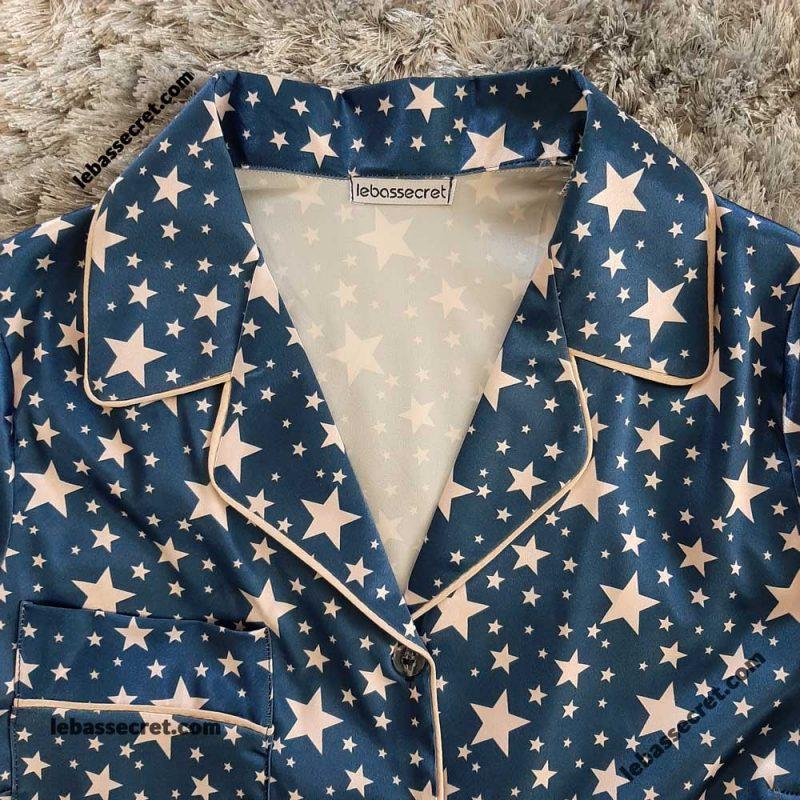 بلوز و شلوارک ابریشمی ستاره دار victoria645
