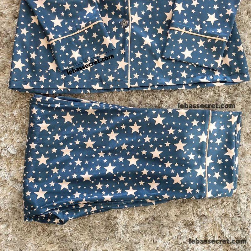 بلوز و شلوار ابریشمی ستاره دار victoria646