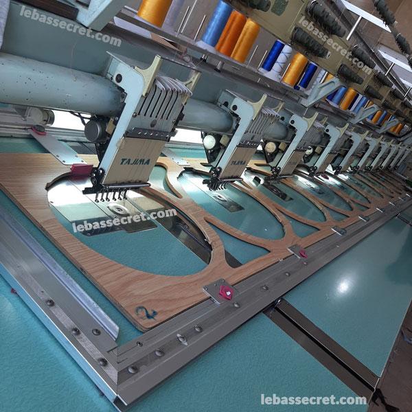 گلدوزی روی لباس با دستگاه در تیم طراحی و تولید لباس سکرت