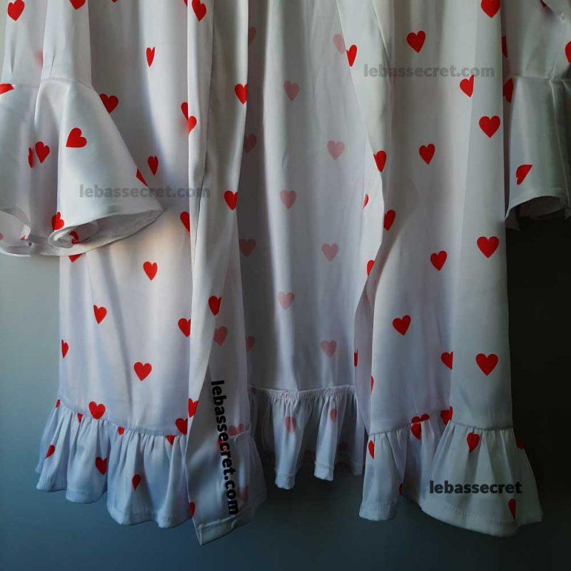 روبدوشامبر زنانه ابریشمی قلبی victoria242