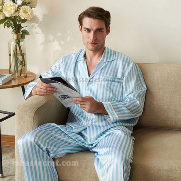 لباس خواب ابریشمی مردانه victoria980