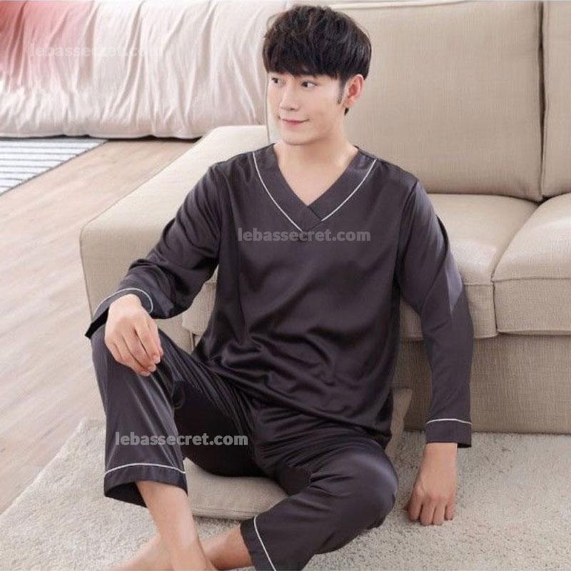 لباس خواب مردانه ابریشمی luxury111