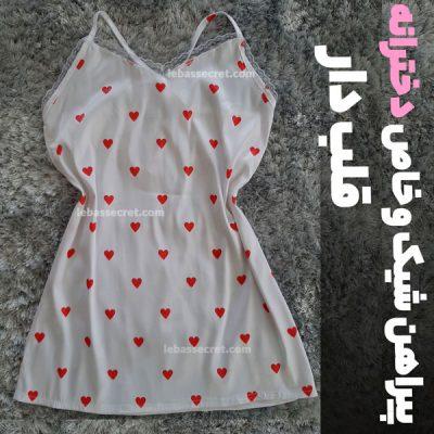پیراهن زنانه پشت گردنی قلبی victoria114